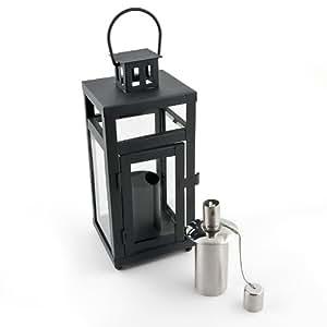 relaxdays lampe p trole lanterne en m tal et verre hauteur 25 cm avec r servoir p trole. Black Bedroom Furniture Sets. Home Design Ideas