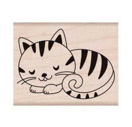 Hero Arts e6216Sleeping Kitty rot Gummi Holz Stempel -