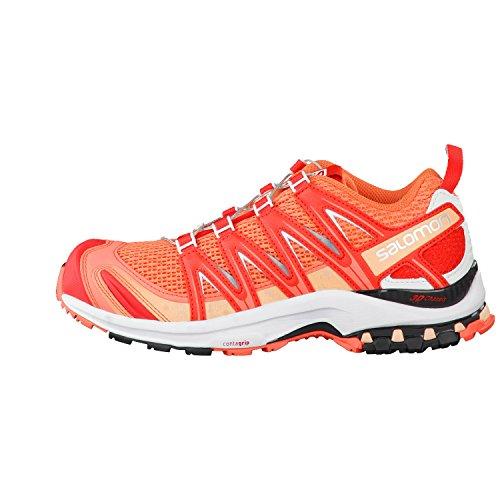 Salomon  XA PRO 3D, Chaussures de Trail femme Living Cor/Wh/Poppy Re