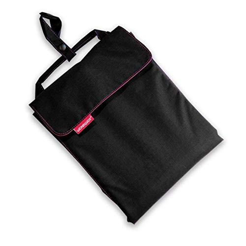 Wickelquick, Mobile Wickelunterlage, Wickeltasche, 60 x 60 cm, mit Trageschlaufe, 4 Seitentaschen, einhändig bedienbar, in schwarz