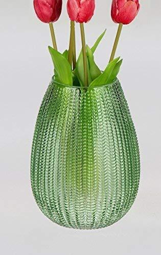 Small-Preis Blumenvase Grün Glas im Top Aktuellen Design Vase Dekoration Tischdekoration Formano