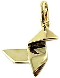 """Les Trésors De Lily [P1166] - Pendentif Plaqué Or """"Origami"""" doré (cocotte traditionnelle)"""