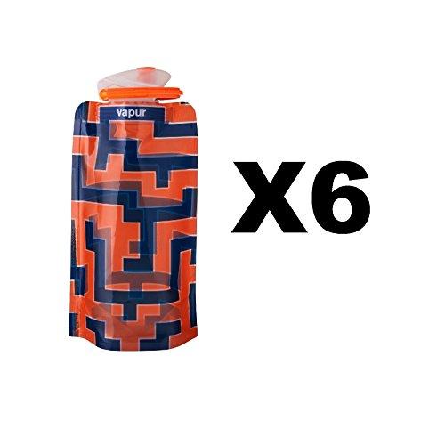 vapur-runaway-shades-18oz-water-bottle-orange-blue-maze-flexible-05l-6-pack
