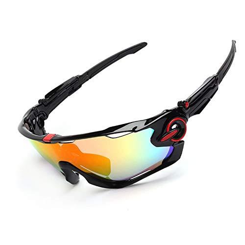 MaxAst Sonnenbrille Motorradbrille Herren Sicherheitsbrille Brillenträger Schwarz