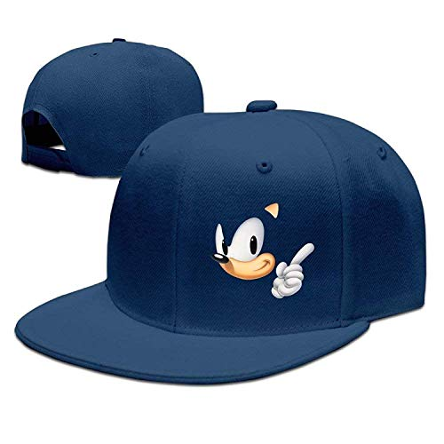 Kostüm Sonic Kind - Unisex Sonic The Hedgehog Game Adjustable Snapback Hip-hop Baseball Cap ny Cap
