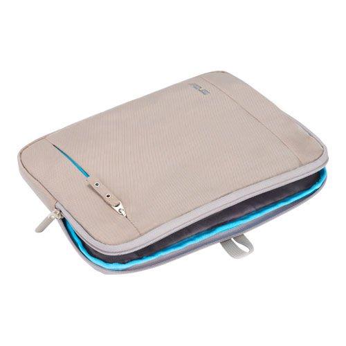 Asus Matte Slim Tasche (bis 14 Zoll, gepolstert, wasserfest, leicht, für Notebook) beige