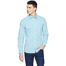 Parx Men's Printed Slim Fit Casual Shirt