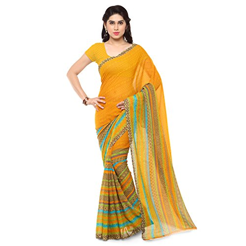 Anand Sarees Saree with Blouse Piece (1164_2_Yellow_Free size)