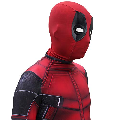 QWEASZER Deadpool Spandex Jumpsuit Kostüm Kostüm Zentai Onesie Kleidung Halloween Cosplay Party Bodysuit Film - Deadpool Kostüm Jumpsuit