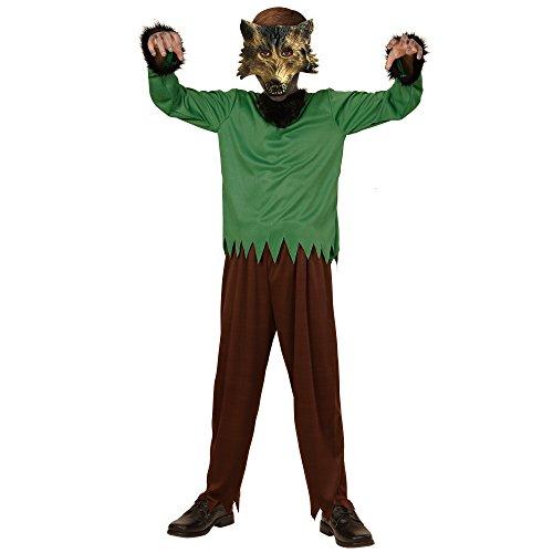 Widmann 00238 - Kinderkostüm Werwolf, Overall und Maske, Gröߟe 158, braun (Vollmond Werwolf Kostüme)