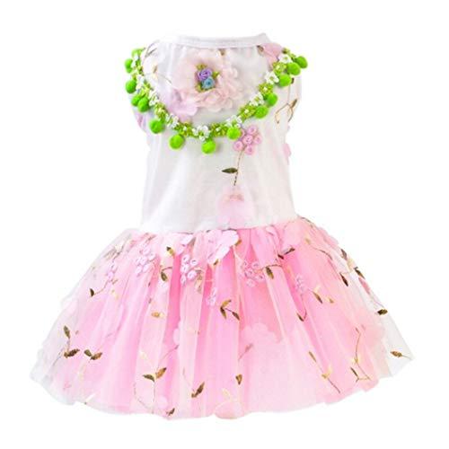 Kostüm Prinzessin Taschenbuch - AMURAO Sommer Hund Tutu Kleid Lace Puppy Kleidung Rüschen Baumwolle Haustier Prinzessin Tutu ärmellose Haustiere Kostüm