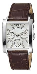 Esprit Damen-Armbanduhr Dynasty Brown Analog Leder ES101002004