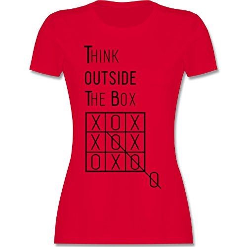 Statement Shirts - Think outside the box - tailliertes Premium T-Shirt mit Rundhalsausschnitt für Damen Rot