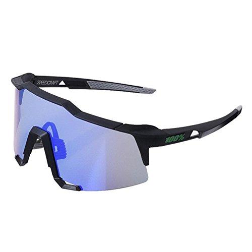 JING Outdoor Sports Reitbrille Anti-UV Polarisierende Sonnenbrillen Winddicht Anti-Sand-Brille für Mann und Frau, Black1 -