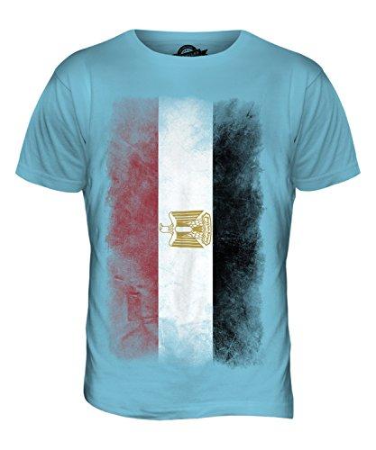 CandyMix Ägypten Verblichen Flagge Herren T Shirt Himmelblau