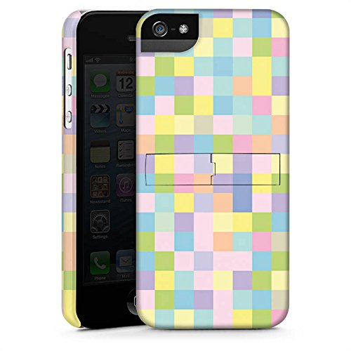 Apple iPhone X Silikon Hülle Case Schutzhülle Muster Bunt Pixel Premium Case StandUp