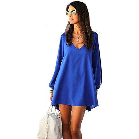 Malloom® V-Collo Mini Vestito Allentato Dress - Donna