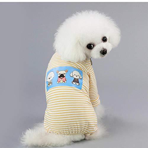 MUXIAND Weiche Baumwolle Hund Pyjamas gestreiften kleinen Hunden Welpen Katzen Overall Coat Pet Apparel
