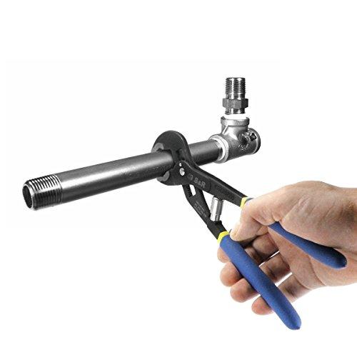 S&R Automatische Wasserpumpenzange – patentierter Schnellspannmechanismus, CR-V, doppelt ummantelte Griffe, 240 mm, Rohre bis 35 mm - 7