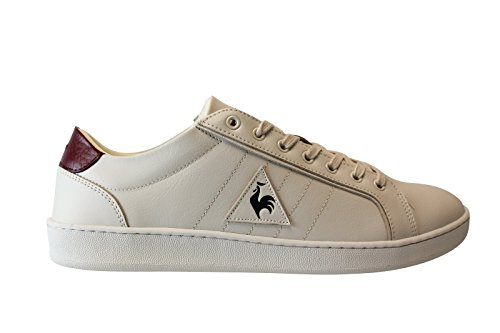 Chaussures Offcourt Lea Marshmallow/Ruby Wine - Le Coq Sportif Beige