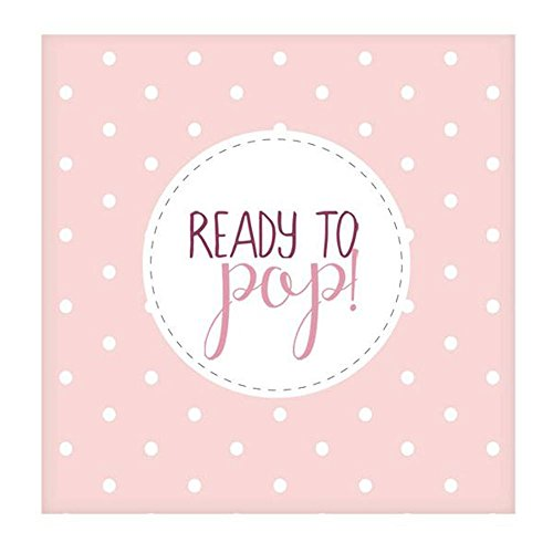 Club Green J017PK Oh Baby Ready To Pop Pink Lunch Napkins  20 pack