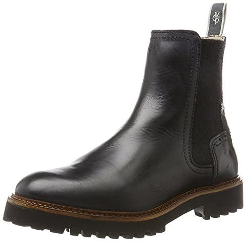 Marc O'Polo Flat Heel 70814235001108, Chelsea Boots Femme, Schwarz (Black), 37 EU