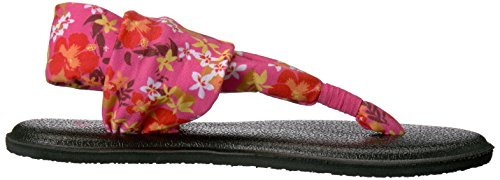 Sanuk Kids Yoga Sling Burst Flip Flop (Toddler/Little Kid/Big Kid) Paradise Pink Waikiki Floral