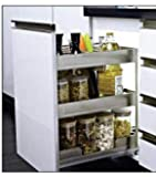 Now & Ever Satin Bottle Pullout with Soft Close for 350 mm Carcass Width (3 Shelf)