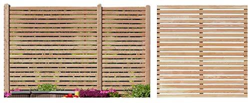 Gartenpirat Sichtschutzzaun 180x180 cm aus Lärchenholz Bausatz Zaunelement Zum Selber Bauen