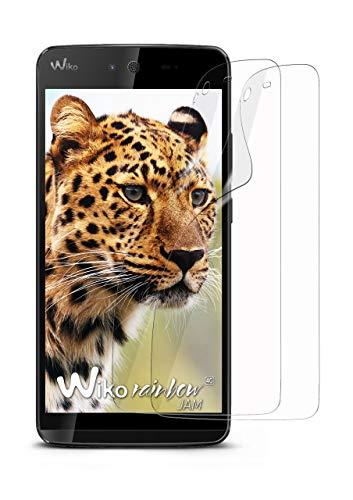moex 2X Wiko Rainbow Jam 4G | Schutzfolie Klar Bildschirm Schutz [Crystal-Clear] Screen Protector Display Handy-Folie Dünn Bildschirmschutz-Folie für Wiko Rainbow Jam 4G Bildschirmfolie