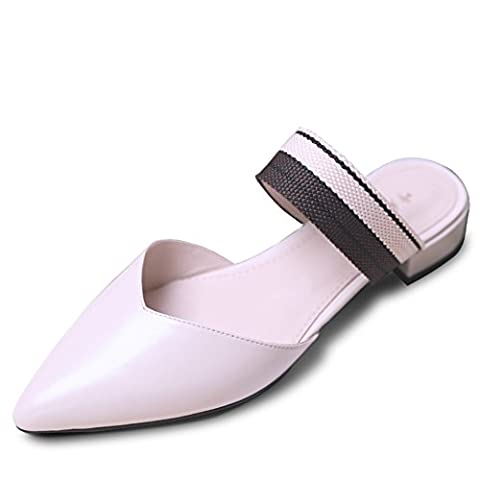 Slippers/fashion foreign wear korean shoes/tipped crude sandals-A Foot length=21.8CM(8.6Inch) (Bead Trim Top)