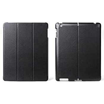 Aquarius Intelligent Cover Case Folio Wallet for the New Apple iPad 3rd Generation with Auto Wake Up Function and Microfiber LCD Screen Protection - Black