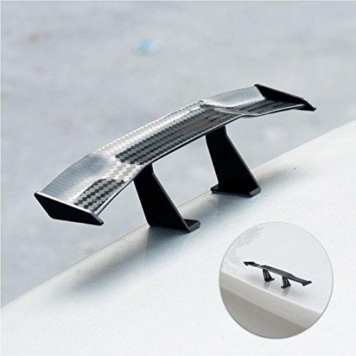Mini - Auto Spoiler Heckspoiler in Carbon Optik, universal hinten, ABS-Plastik für alle Automarken und Typen von TK-Gruppe