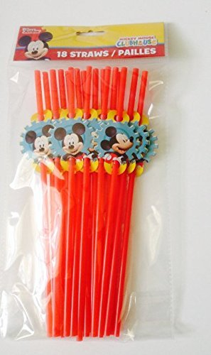 Disney Disney Jr. Mickey Mouse Clubhouse Party Favor Straws 18/pk (Favors Clubhouse Party Mickey)