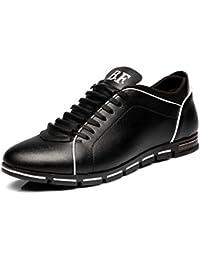 CUSTOME Hombre casual cuero PU Ata los zapatos zapatillas