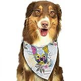 Hipiyoled Hundekopf-Muster-Mode-Hundebandanas-Lätzchen Schals-Haustier-Schals-Katzen-Hundeschal