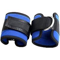 Preisvergleich für Fußschlaufen, Verstellbare Gepolstert Ankle Straps Perfekt für Gebrauch im Fitnessstudio Fitness Training am Kabelzug Beintraining am Seilzug - 2 Stück