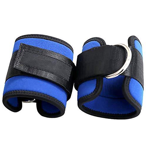 Xinxun Fußriemen D-Ring Fußmanschetten Fußschlaufen für Fitness Training am Kabelzug & Beintrainig Blau 1 Paar