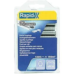 Rapid, 40108799, Agrafes de grillage galvanisées, VR16, 2-8 mm, 1390 pièces, Haute qualité