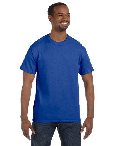 Hanes 5250tMaglietta a maniche corte, da uomo Blu reale profondo