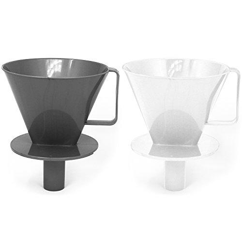 COM-FOUR 2x Permanente Kaffeefilter-Halter, Kaffeefilter-Aufsatz in verschiedenen Farben [Auswahl...