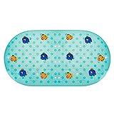 LegendTech Tappetino da Bagno Antiscivolo, PVC Tappetino da Bagno per Bambini Tappeto Vasca Antiscivolo Bambini Prevenzione Tumble Massaggio Tappetino Durevole Pesci Blu 69x39cm