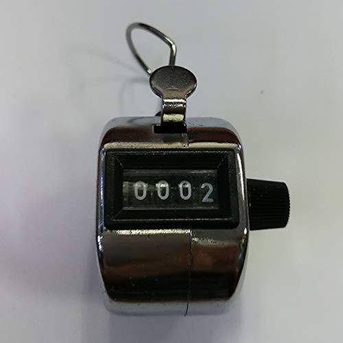Comomingo Digitaler Handzähler 4-stelliger Zahlenzähler Manuelle Zählung Clicker (Clicker Für Die Zählung)