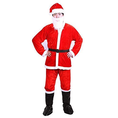 htsmann Kleidung Anzug Erwachsene Weihnachten Kleidung Mit Weihnachtsmütze,rot,Männer-S ()