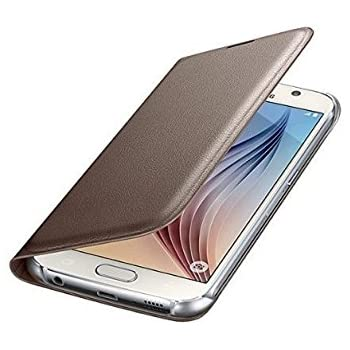 SmartLike Leather Flip Cover for LYF LS-5504 (LYF Water 7 ) GOLD