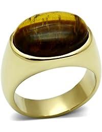 ISADY - Sanga - Men's Ring - stainless steel - Tiger's eye