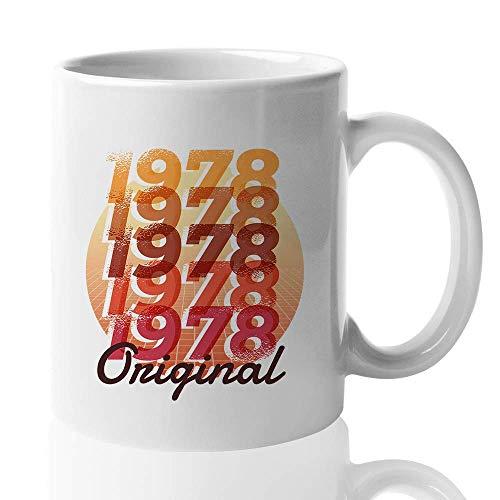 Birthday Number Coffee Mug - Original 1978 - Retro Design Old Fashioned Men Women 41st Dad Mom Husband Wife Sister Brother Men Women 11 Oz - Brothers Old Fashioned