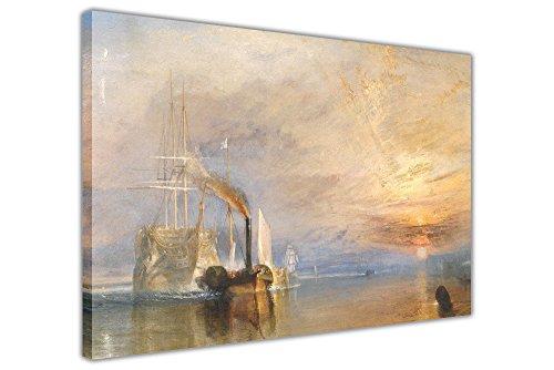 """Kunstdruck auf Leinwand gerahmt """"The Fighting Temeraire"""" von Joseph Mallord William Turner, 04- 30"""" X 20"""" (76cm X 50cm)"""