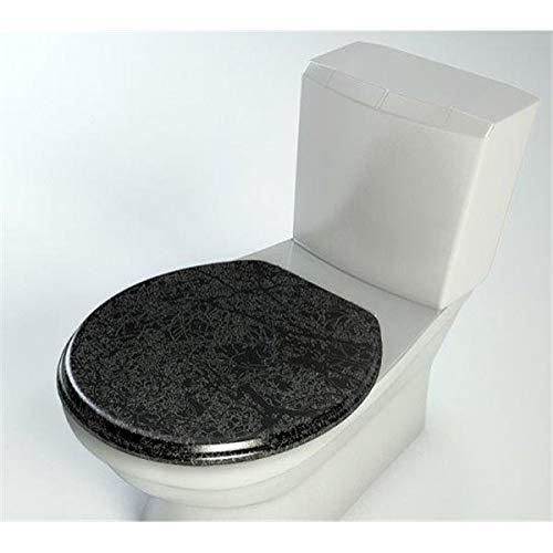 Inconnu Autre - Abattant WC de Toilette en Bois compresse MDF Cuvette ralentisseur Double Frein Chute Charnière INOX