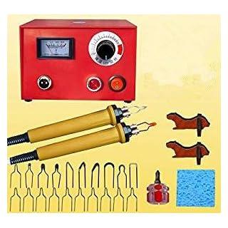 Pyrographie Maschine 50W 220V tragbar Brandmal-Kolben Set mit 20Pcs Brennspitzen für Handwerk Holz Brennen Schnitzerei Dual Pen Pyrographie Werkzeug Professionelle Holz Brennen Kit
